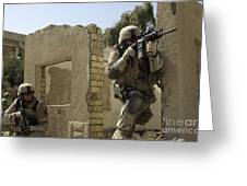 U.s. Army Soldiers Reacting To Small Greeting Card by Stocktrek Images