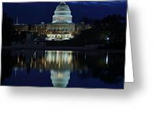 Us Capitol - Pre-dawn Getting Ready Greeting Card by Metro DC Photography