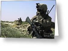 U.s. Marine Uses A Radio Greeting Card by Stocktrek Images