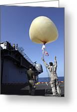 U.s. Marines Launch A Combat Skysat Greeting Card by Stocktrek Images