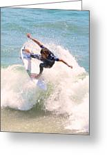 Us Open Of Surfing 2012      4 Greeting Card by Jason Waugh