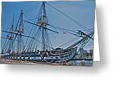 U.s.s. Constitution Greeting Card by Jonathan Harper