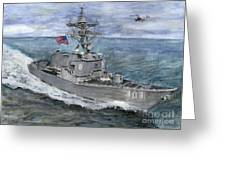 Uss Gridley Greeting Card by Sarah Howland-Ludwig