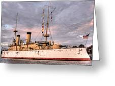 Uss Olympia Greeting Card by JC Findley