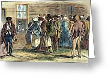 VA: FREEDMENS BUREAU 1866 Greeting Card by Granger