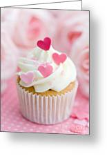 Valentine Cupcake Greeting Card by Ruth Black