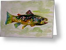 Valentine Trout Greeting Card by Delilah  Smith