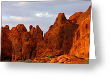 Valley Of Fire - The Landscape Burns Greeting Card by Christine Till