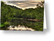 Valley River Greeting Card by Greg and Chrystal Mimbs