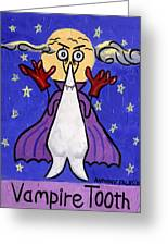 Vampire Tooth Greeting Card by Anthony Falbo