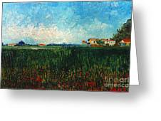 Van Gogh: Landscape, 1888 Greeting Card by Granger