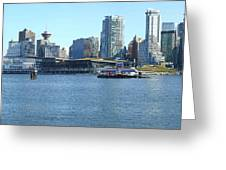 Vancouver Bc Skyline Canada Place Panorama Canada. Greeting Card by Gino Rigucci