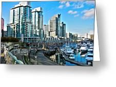 Vancouver Harbour Greeting Card by Kamil Swiatek
