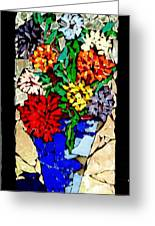 Vase Of Flowers Greeting Card by Brenda Marik-schmidt
