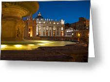 Vatican At Blue Hour Greeting Card by Stavros Argyropoulos