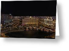 Vegas Strip From Eiffel Tower Greeting Card by Metro DC Photography