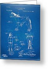 Velocipede Horse-bike Patent Artwork 1893 Greeting Card by Nikki Marie Smith