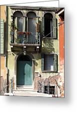 Venetian Doorway Greeting Card by Carla Parris