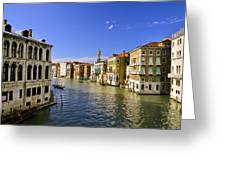 Venice Canale Grande Greeting Card by Travel Images Worldwide