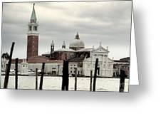 Venice Italy - San Giorgio Maggiore Island - 02 Greeting Card by Gregory Dyer