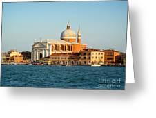 Venice Italy - San Giorgio Maggiore Island Greeting Card by Gregory Dyer