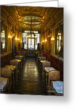 Venice Italy - Tea Room Greeting Card by Gregory Dyer
