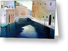 Venice Water Dance Greeting Card by Larry Cirigliano