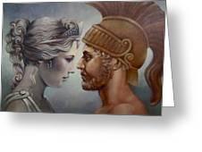 Venus And Mars Greeting Card by Geraldine Arata
