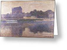 Vernon Church in Fog Greeting Card by Claude Monet