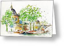 Vers Pont Des Artes Greeting Card by Pat Katz