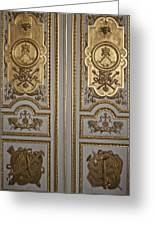 Versailles Door Greeting Card by Nomad Art And  Design