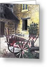 Versailles Peasant Village Greeting Card by Inger Hutton