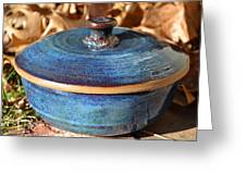 Vessel With Lid No.2 Greeting Card by Christine Belt