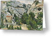 Viaduct At L'estaque Greeting Card by Paul Cezanne