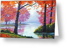 Vibrant Colours Greeting Card by Graham Gercken