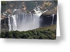 Victoria Falls II Greeting Card by Christian Heeb
