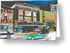 Victoria Theater 125th St Nyc Greeting Card by Steven Huszar