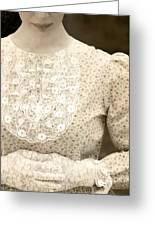 Victorian Dress Greeting Card by Joana Kruse