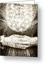 Victorian Hands Greeting Card by Joana Kruse