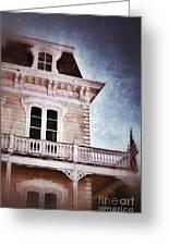 Victorian House Greeting Card by Jill Battaglia