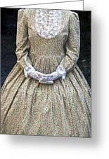 Victorian Lady Greeting Card by Joana Kruse