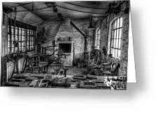 Victorian Locksmith's Workshop Greeting Card by Adrian Evans