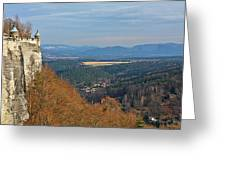 View From Koenigstein Fortress Germany Greeting Card by Christine Till