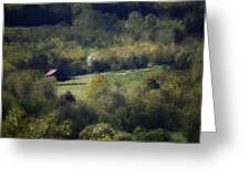 View From The Pond At The Hacienda Greeting Card by David Lane