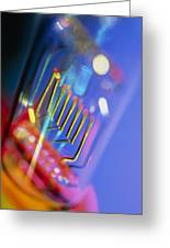 View Of A Technical Electric Light Bulb Greeting Card by Tek Image