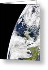 View Of Earth From Space Showing Greeting Card by Stocktrek Images