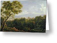 View Of Frascati Greeting Card by Jean Bidauld