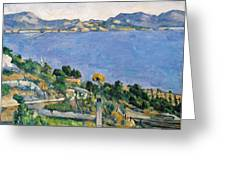 View Of The Bay Of Marseilles Greeting Card by Paul Cezanne