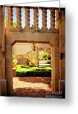 View Of The Garden Greeting Card by Tamyra Ayles
