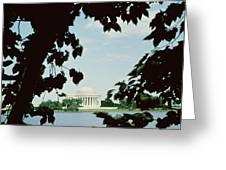View Of The Jefferson Memorial Greeting Card by John Russell Pope